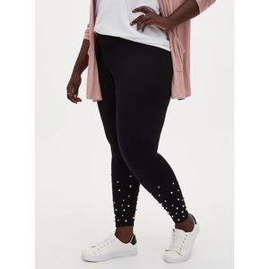🆕Torrid Black Ponte Pearl Hem Platinum Legging 1X